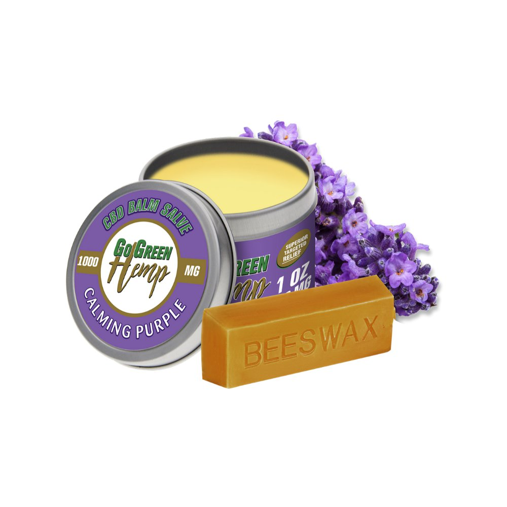 GoGreen Hemp Balm Salve 1000mg Calming Purple 1 oz (28 g)