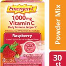 Emergen-C 1000mg Vitamin C Daily Immune Support Drink Mix - Raspberry - 30 PK