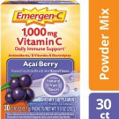 Emergen-C 1000mg Vitamin C Daily Immune Support Drink Mix - Acai Berry - 30 PK