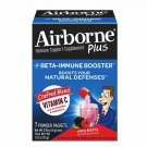 Airborne Plus Beta-Immune Booster Very Berry Powder Packets, 7 pouches