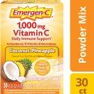 Emergen-C 1000 mg Vitamin C Immune Support Drink Mix - Coconut-Pineapple, 30ct