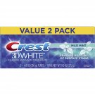 Crest 3D White Mild Mint Whitening Toothpaste, 4.8oz (136g), Twin Pack