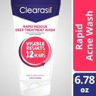 Clearasil Rapid Rescue Deep Treatment Face Wash Salicylic Acne Treatment Max Strength 6.78 fl oz