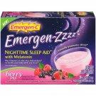 Emergen-C Emergen-Zzzz Nighttime Sleep Aid, Melatonin + Vitamin C - Berry PM Drink Mix, 24ct