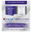 Crest 3D White Brilliance Toothpaste (4.0oz) + Whitening Gel (2.3oz) 2-Step Daily Dental Care System