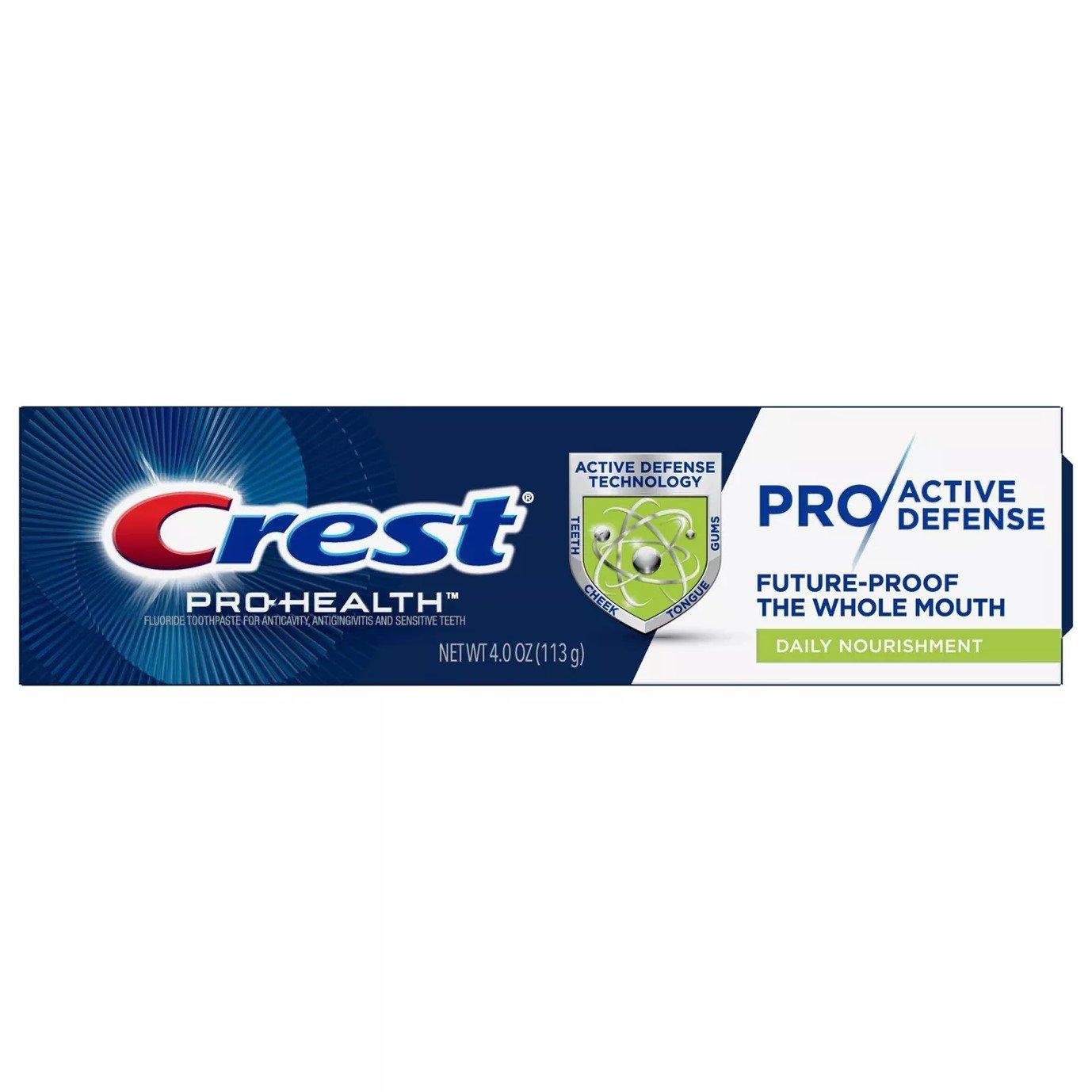 Crest Pro-Health Pro Active Defense Daily Nourishment Toothpaste 4 oz