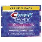 Crest 3D White Radiant Mint Toothpaste, 4.1 oz (116 g) 3-PACK