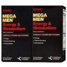 GNC Mega Men Energy & Metabolism Multivitamins, 180 Timed-Release Caplets