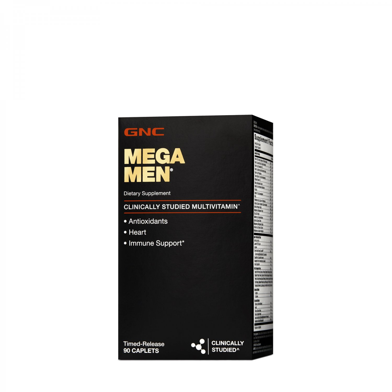 GNC Mega Men, Clinically Studied Multivitamin, 90 Timed-Release Caplets