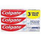 Colgate Baking Soda & Peroxide Whitening Toothpaste, Brisk Mint, 6 oz (170 g) - 3 PACK