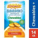 Emergen-C Immune+ Vitamin C 1000mg + D3, 14 Chewable Tablets - Orange Blast