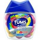 Tums Chewy Bites Antacid Calcium Carbonate + Gas Relief, Lemon Strawberry, 28 ct
