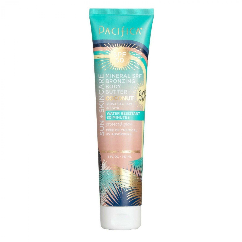 Pacifica Sun + Skincare SPF 50 Mineral Bronzing Body Butter, 147 ml, Coconut