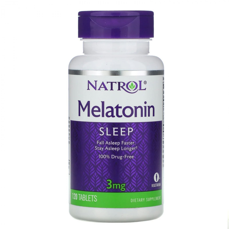 Natrol Melatonin 3 mg, 120 Vegetarian Tablets - sleep aid dietary supplement