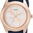 GUESS Women's Stainless Steel Silicone Casual Watch, Color: Blue (Model: U0911L6)