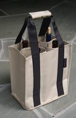 """""""Fine Whines"""" Party To Go Tote Brown/Tan"""