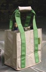 """Fine Whines"" Party To Go Tote Green/Tan FREE SHIPPING"
