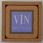 """""""Fine Whines"""" VINO IS NECESSARY Coasters"""