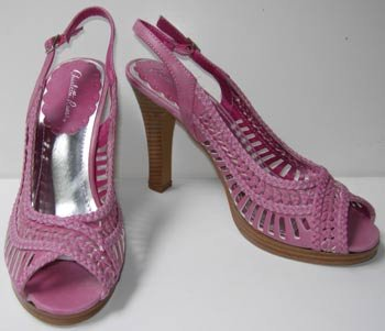 Charlotte Russe Dark Pink Sling Back Size 9