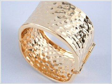 Gold Fold-Over Metal Bracelet