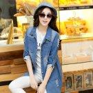 Fashion Loose-Fitting Double-Pockets Lapel Denim Jackets