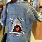Punk Style Individual Printed Long Sleeve Denim Jackets