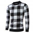 Korean Plaid O Neck Pullover Sweater
