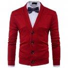 Stylish Easy Match Solid Men Cardigan Sweater