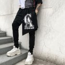 Men Casual Printing Personality Long Pants