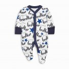 Cozy Print Long Sleeve Baby Rompers