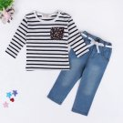 Striped T Shirt With Jeans Baby Suits