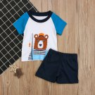 Children Suits With Print Top & Solid Pants