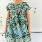 New Design Ruffles Floral Dresses For Girls