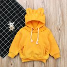 Fashion Solid Hooded Collar Cute Hoodies