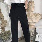 Japanese Style Solid Black Nine Pants