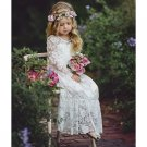 Pretty Embroidery Lace Binding Bow Kids Wedding Dresses