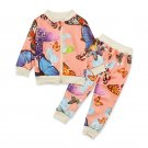 Butterfly Print Baby Girl Outfits