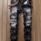 Chic Patchwork Straight Mens Jeans