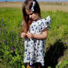 Crew Neck Ruffled Sleeve Floral Dress For Girl