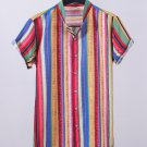Casual Striped Single-breasted Men Shirts