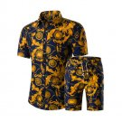 Casual Turndown Neck Printed Men 2 Pieces Sets