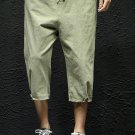 Simple Style Solid Cropped Pants For Men