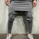 Solid Fitted Zipper Design Patchwork Men Pencil Pants