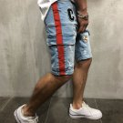 Trendy Pockets Embroidery Leisure Half Length Mens Shorts
