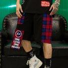 Leisure Straight Plaid Men Shorts