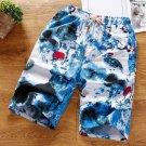 Printed Straight Elastic Waist Short Pants For Men