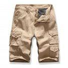 Versatile Solid Color Pockets Short Pants For Men