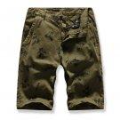 Easy Matching Printed Men Straight Half Pants