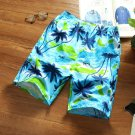Vacation Printed Elastic Waist Men Short Pants