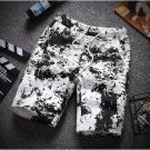 New Style Graffiti Printed Short Pants For Men
